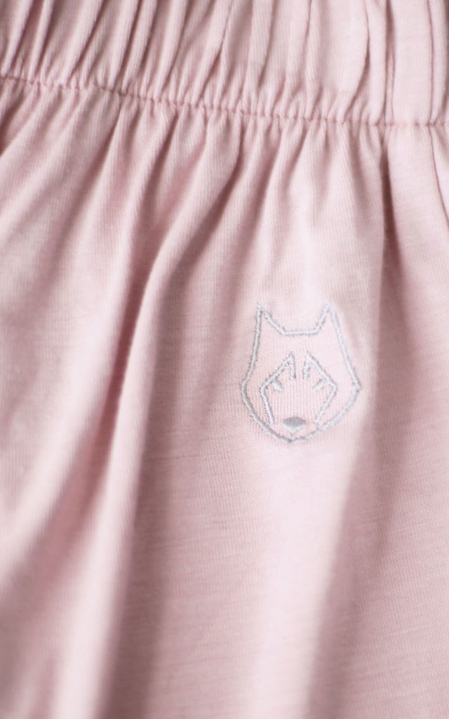 Pyjama Trousers With High Splits in Pink by MOE