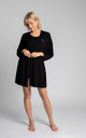 Short Dressing Gown in Black by MOE
