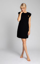 Ribbed Cotton Loungewear Dress in Black by MOE
