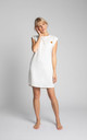 Ribbed Cotton Loungewear Dress in White by MOE