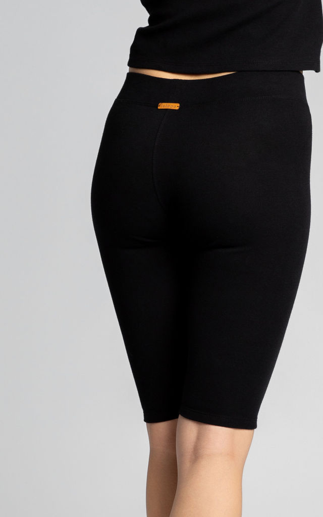 Ribbed Cycling Shorts in Black by MOE