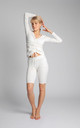 Ribbed Cycling Shorts in White by MOE