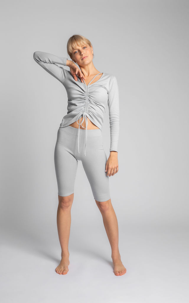 Ribbed Cycling Shorts in Grey by MOE