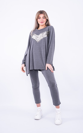 Relaxed sequin loungewear set by Lucy Sparks