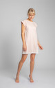 Cotton Nightdress with Lace Hem in Light Pink by MOE
