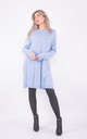 Wide neck jumper dress with pockets (blue) by Lucy Sparks