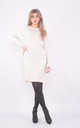 Wide neck jumper dress with pockets (Beige) by Lucy Sparks