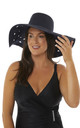 Cut Out Navy Detail Sun Hat by Seaspray