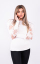 White Going Out Top with Long Puff Sleeves by Lucy Sparks