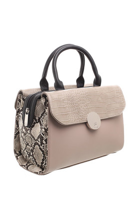CROC AND SNAKE PRINT BOWLING BAG by BESSIE LONDON