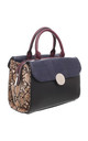 CROC AND SNAKE PRINT BOWLING BAG BLACK by BESSIE LONDON