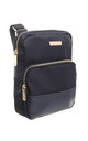 SMALL SMART NYLON CROSS BODY BAG NAVY by BESSIE LONDON