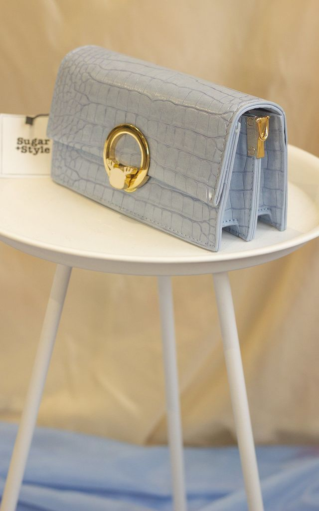 Baby Blue Deer Ring Baguette Bag by Sugar + Style