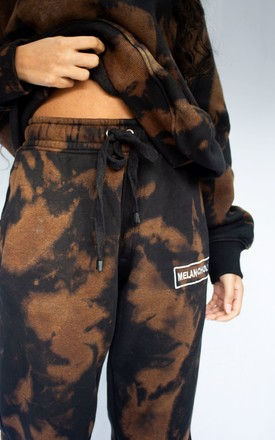 Brown & Black acid wash Joggers by grapeviine