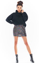 Sequin Mini Skirt in Multicolour by AWAMA