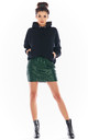 Sequin Mini Skirt in Green by AWAMA