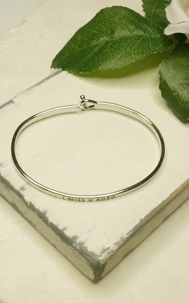 'I Miss You' Inspirational Bangle by EPITOME JEWELLERY