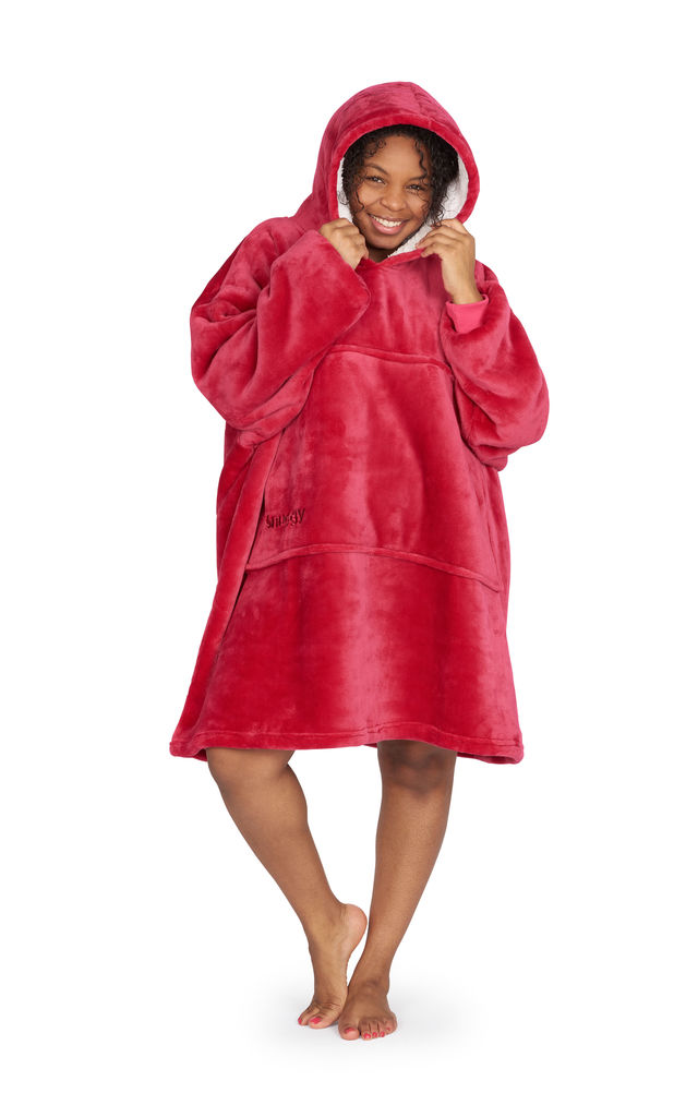 Snuggy, Wine Red Adult - Oversized Hooded Blanket by Snuggy