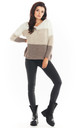 V-Neck Jumper in Beige by AWAMA