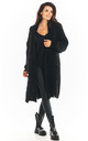 Long Thick Cardigan in Black by AWAMA