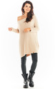 Oversized Asymmetric Jumper in Beige by AWAMA