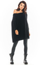 Oversized Asymmetric Jumper in Black by AWAMA
