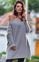 Oversized Asymmetric Jumper in Grey by AWAMA