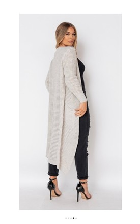 Chunky Knit Maxi Cardigan in Beige by Pink Lemonade Boutique