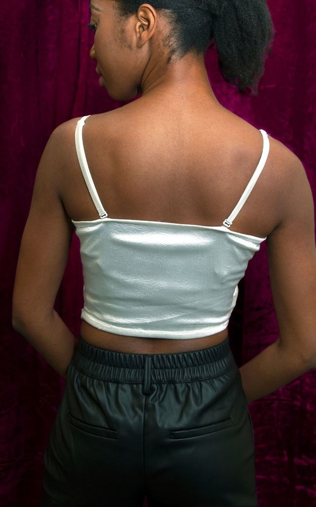 Pleated Scallop Shell Crop Top by The Naked Laundry
