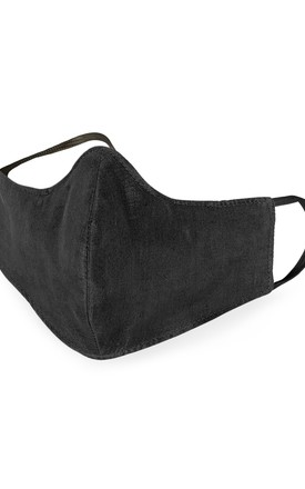 Reusable Silk Face Mask- Black by The Naked Laundry