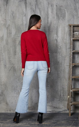 Daisy Red and White Cardigan by Timeless London