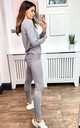 Exclusive 2-Side Star Print Loungewear Co Ord Set in Grey by HOXTON GAL