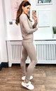 Exclusive 2-Side Star Print Loungewear Co Ord Set in Beige by HOXTON GAL