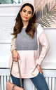 Colour Block Jumper in Grey and Pink by Bella and Blue