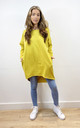 Plain Oversized Sweatshirt Dress in Yellow by Love
