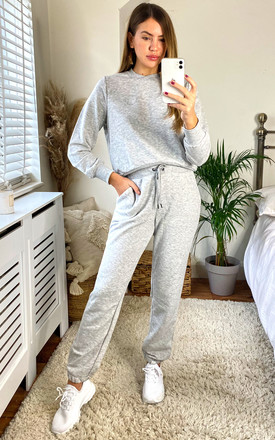 Jogging Bottoms With Noisy May Logo In Light Grey by Noisy May Product photo