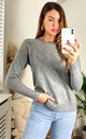 Long Sleeve Pullover Knit in Medium Grey by ONLY