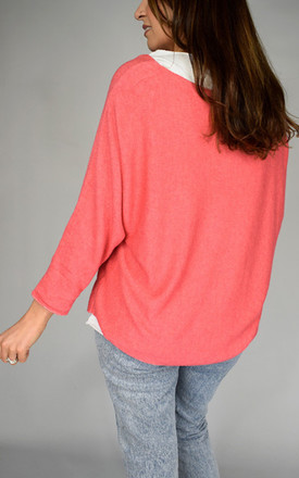 Pink Soft Knit Sleeved Top With Star Design by Tilly Tizarro