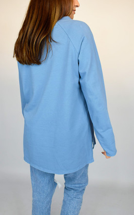 Blue Long Sleeved Top With Heart Design by Tilly Tizarro