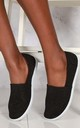 Tizzy Flat Slip On Textil Pump In Black by Miss Diva