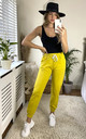 Cotton Joggers in Yellow by KURT MULLER