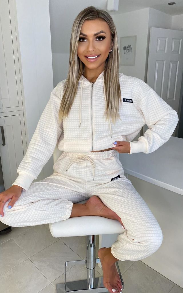 Beige matching tracksuit by Luxy Boutique
