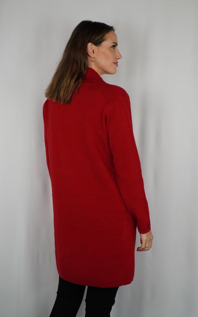 Mimi Red Coat Cardigan by Baloot
