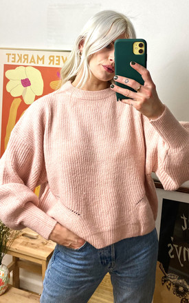 Pink Crew Neck Fisherman Jumper by Nobody's Child