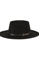 Fedora Hat in Black with Buckle detail by My Accessories London