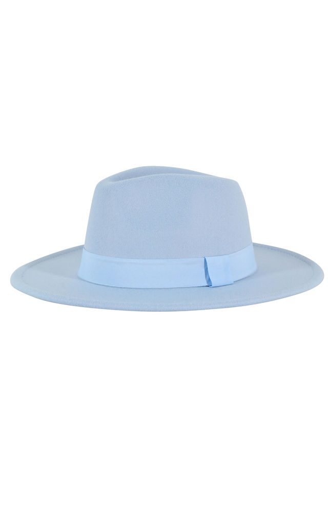 Fedora Hat in Blue with Tonal trim by My Accessories London