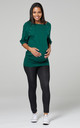 Women's Nursing Top Batwing Sleeves Maternity Breastfeeding Dark Green 023 by Chelsea Clark