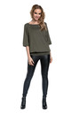 Women's Nursing Top Batwing Sleeves Maternity Breastfeeding Khaki 023 by Chelsea Clark