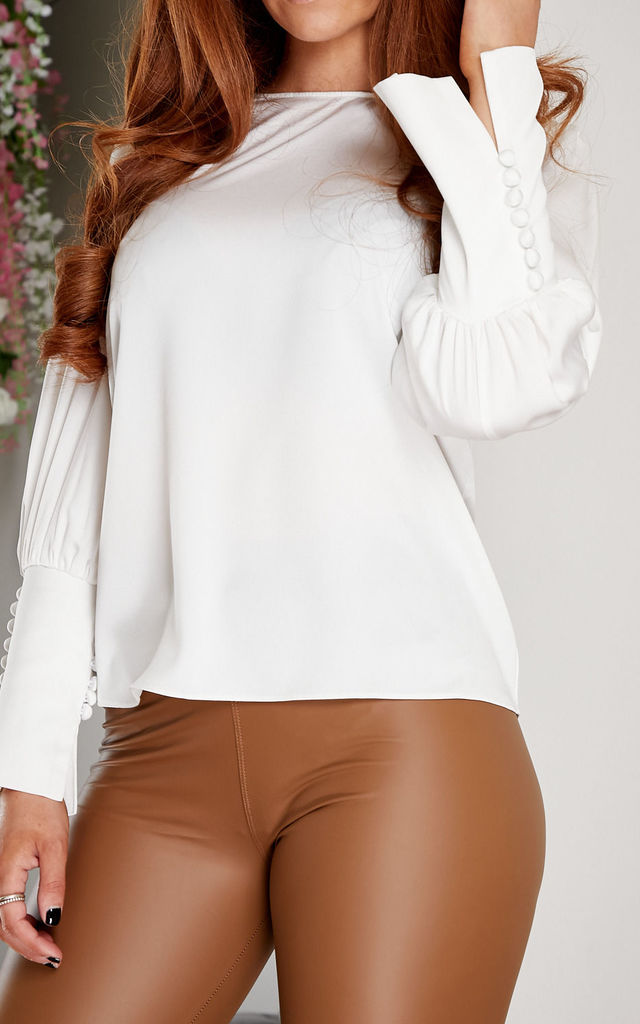 Raina blouse WHITE by Miss Attire