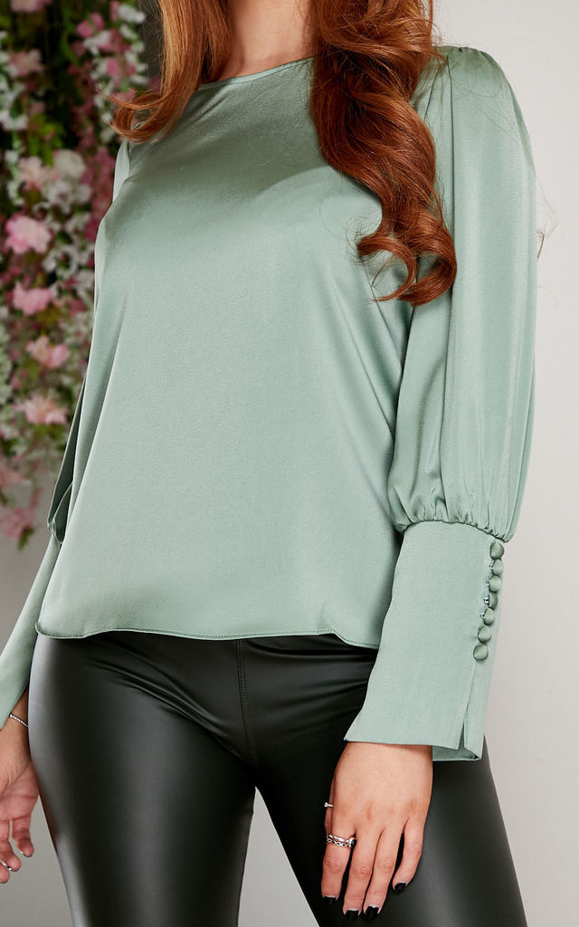 Raina blouse GREEN by Miss Attire